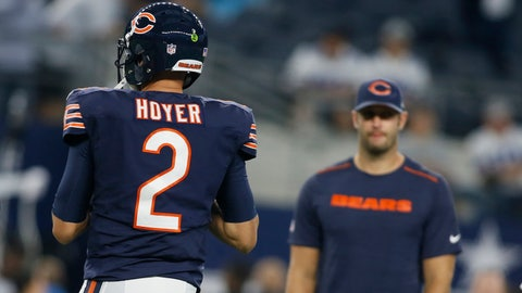Jay Cutler should get his job back with Brian Hoyer going 1-2