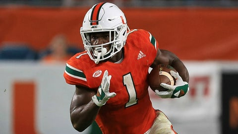 Mark Walton, RB, Miami (Russell Athletic Bowl)
