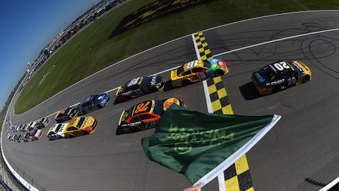 Green flag is in the air