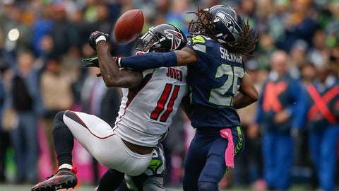 The officials' non-call on Richard Sherman's late interference against Julio Jones