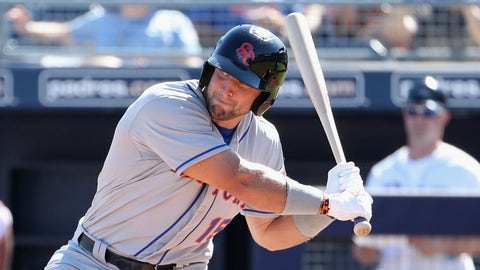 Tim Tebow swung and missed ... often