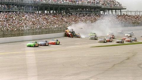 Bill Elliott and Dale Earnhardt collide, 1998