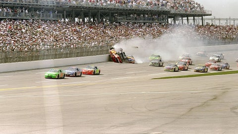 Bill Elliott and Dale Earnhardt collide, 1998