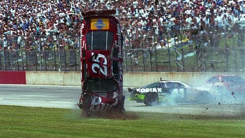Ken Schrader flips many times, 1995
