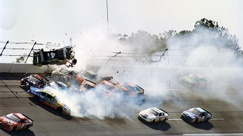 Ricky Craven into the fence, 1996