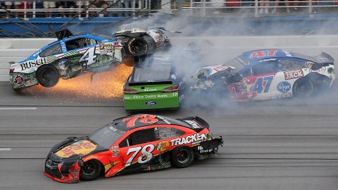 Wildest crashes at Talladega Superspeedway