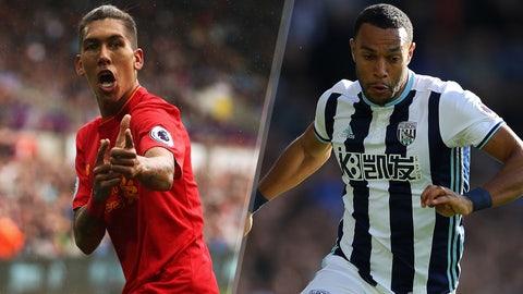 Saturday: Liverpool vs. West Bromwich Albion