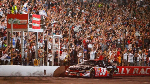 Leffler gets Toyota's first win in a stock car, 2007