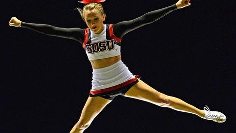 San Diego State cheerleader