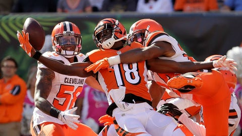 A.J. Green will lead the NFL in receptions and yards but not touchdowns