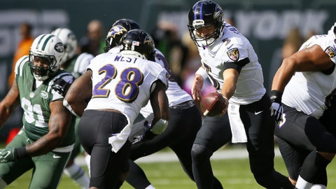 The Baltimore Ravens rushing attack goes nowhere