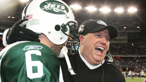 Rex Ryan's Jets beat Patriots in 2010 AFC Divisional round