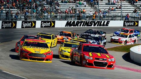 Starting lineup for Goody's Fast Relief 500 at Martinsville