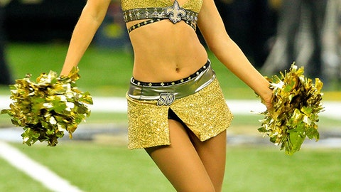 Saints cheerleader