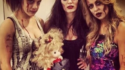 Emma, Paige and Bayley as zombies