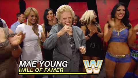 Mae Young: 87 years old (Raw, 2010)