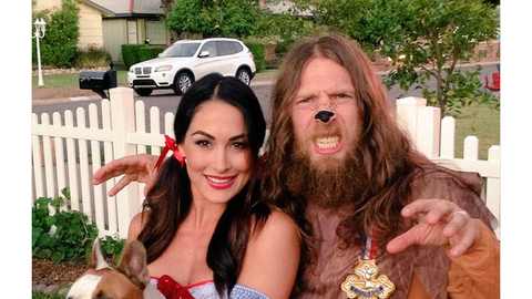 Brie Bella and Daniel Bryan as Dorothy and the Cowardly Lion
