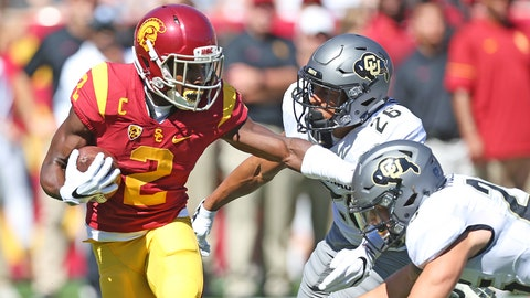 Adoree with the stiff arm