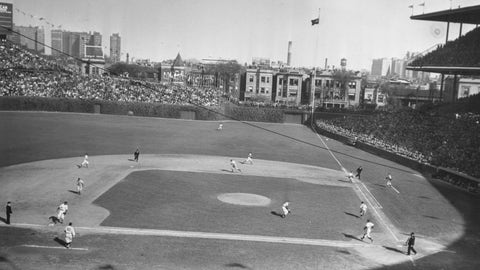 Wrigley Field looked mostly the same