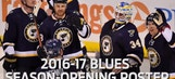 2016-17 season-opening St. Louis Blues roster