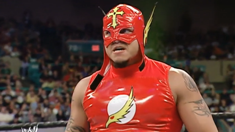 Rey Mysterio looked like The Flash