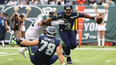 The Seattle Seahawks offensive line gets exposed once again