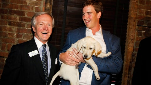 Eli hangs with Eli at Guiding Eyes benefit