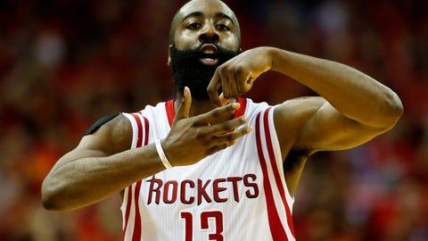 Scoring champion: James Harden, PG, Rockets