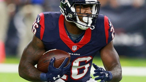 Lamar Miller, RB, Houston Texans (ankle): Questionable