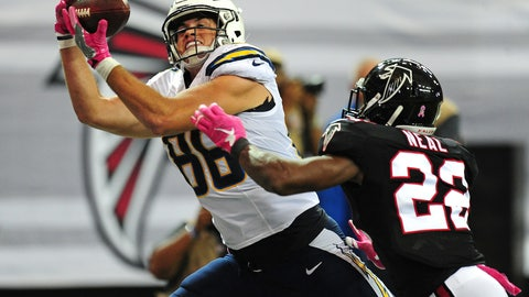 Hunter Henry, TE, Chargers (concussion)