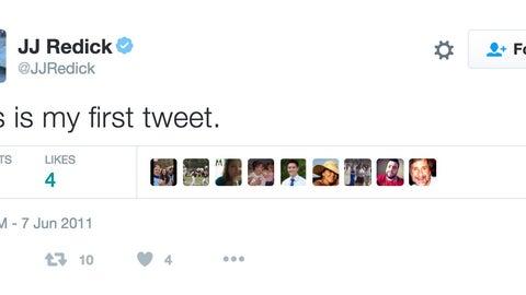 J.J. Redick: tweeting his first tweet