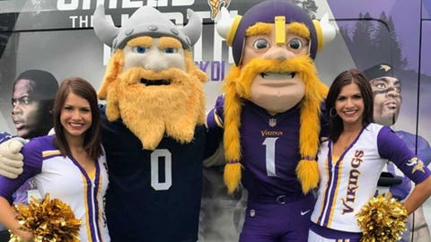 Viktor the Viking, Vikings mascot