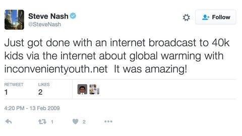 Steve Nash coming to you via the Internet