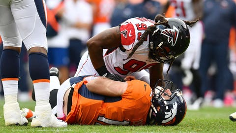 The Broncos were exposed by the Falcons