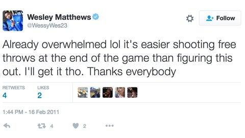 Wesley Matthews: Twitter is hard