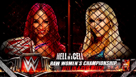 Sasha Banks vs. Charlotte for the Raw Women's Championship inside Hell in a Cell