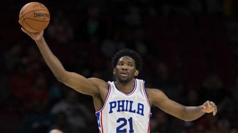 Joel Embiid, C, Philadelphia 76ers