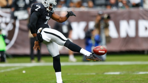 P: Marquette King, Oakland Raiders: 6-0, 192 pounds