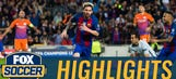 Lionel Messi strolls past Claudio Bravo to score | 2016-17 UEFA Champions League Highlights