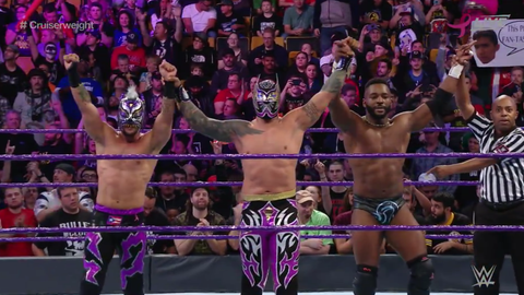 Cedric Alexander, Sin Cara and Lince Dorado defeat Tony Nese, Drew Gulak and Ariya Daivari