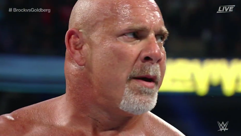 Goldberg defeated Brock Lesnar