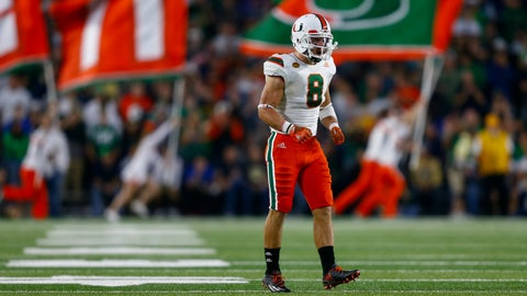 "Miami (""Legends of the U"" jerseys vs. Notre Dame, Oct.  29"