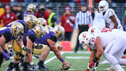 No. 5 Washington 45, No. 23 Washington State 17 (Friday)