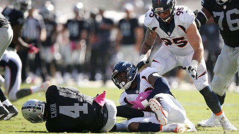 Broncos (PK) over RAIDERS (Over/under: 43.5)