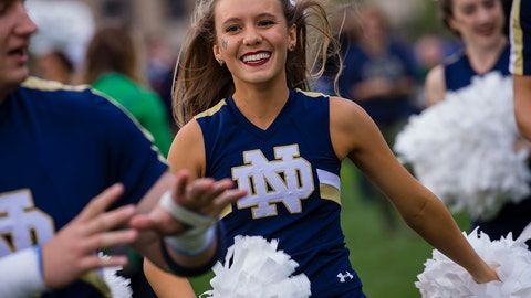 Notre Dame cheerleader