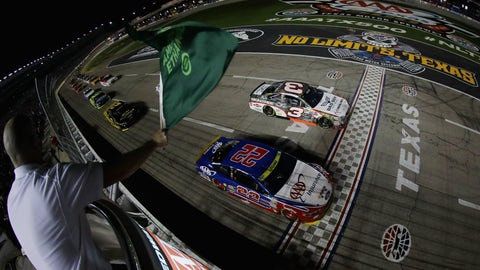 Green flag in the air
