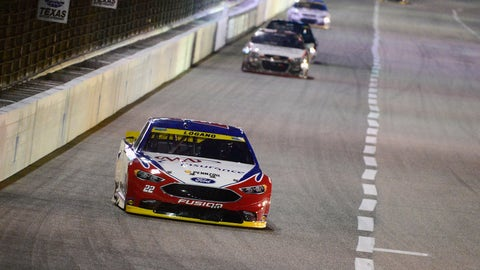 Logano leads early