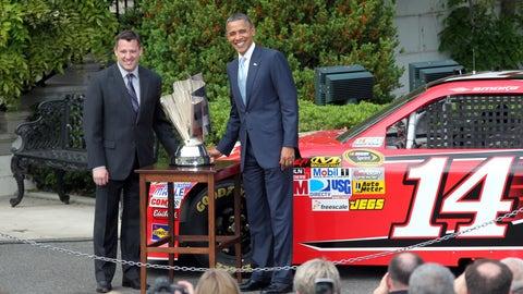 Tony Stewart and Barack Obama, 2012