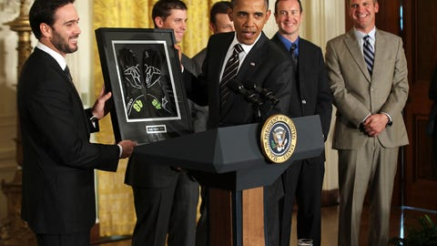 Jimmie Johnson and Barack Obama, 2011