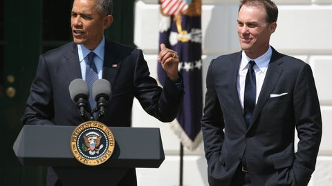 Kevin Harvick and Barack Obama, 2015
